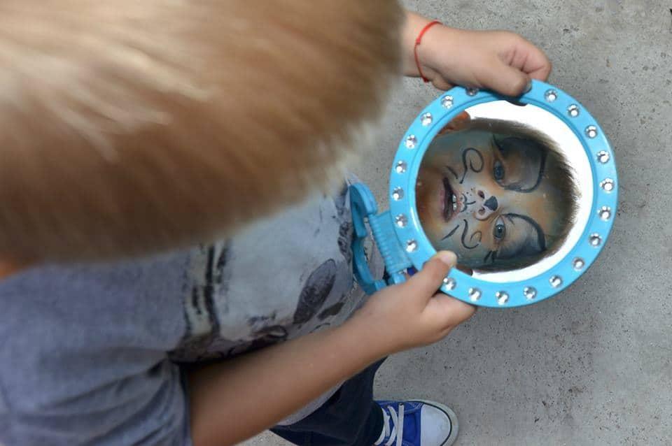 Pictura pe fata copii 05