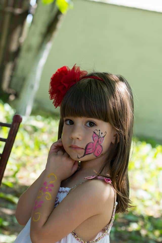 Pictura pe fata copii pret 80 ron